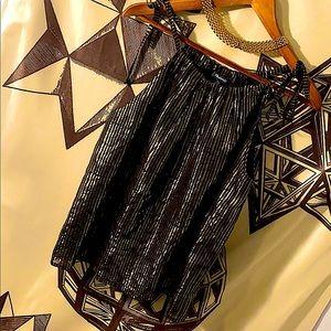 Madewell silk metallic top
